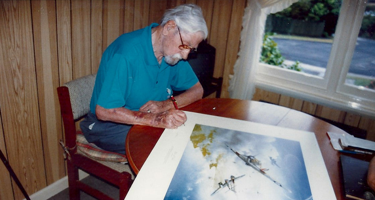 Reg Lewellyn Piece of Cake signing 1999 Hobart Battle of Britain