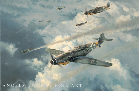 Image of Robert Taylor Knights of the Reich Military Aviation Art Print A20 Aviation Art