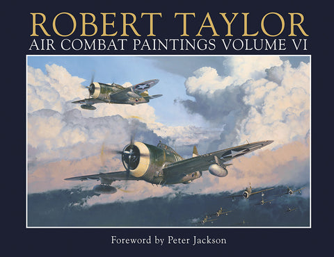 Air Combat Volume 6 by Robert Taylor Military Aviation Art Paintings WW2 USAAF Grumman F6F Hellcat Cover  EditionA20 Aviation Art