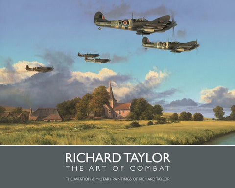 Richard Taylor Military Aviation Art Book WW2 RAF Supermarine Spitfire Cover A20 aviation art