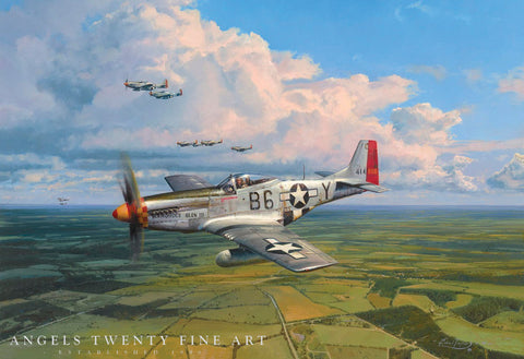 Image of Robert Taylor American Eagles Signed Limited Edition Art Print P51 Mustang A20 Aviation Art full print second view
