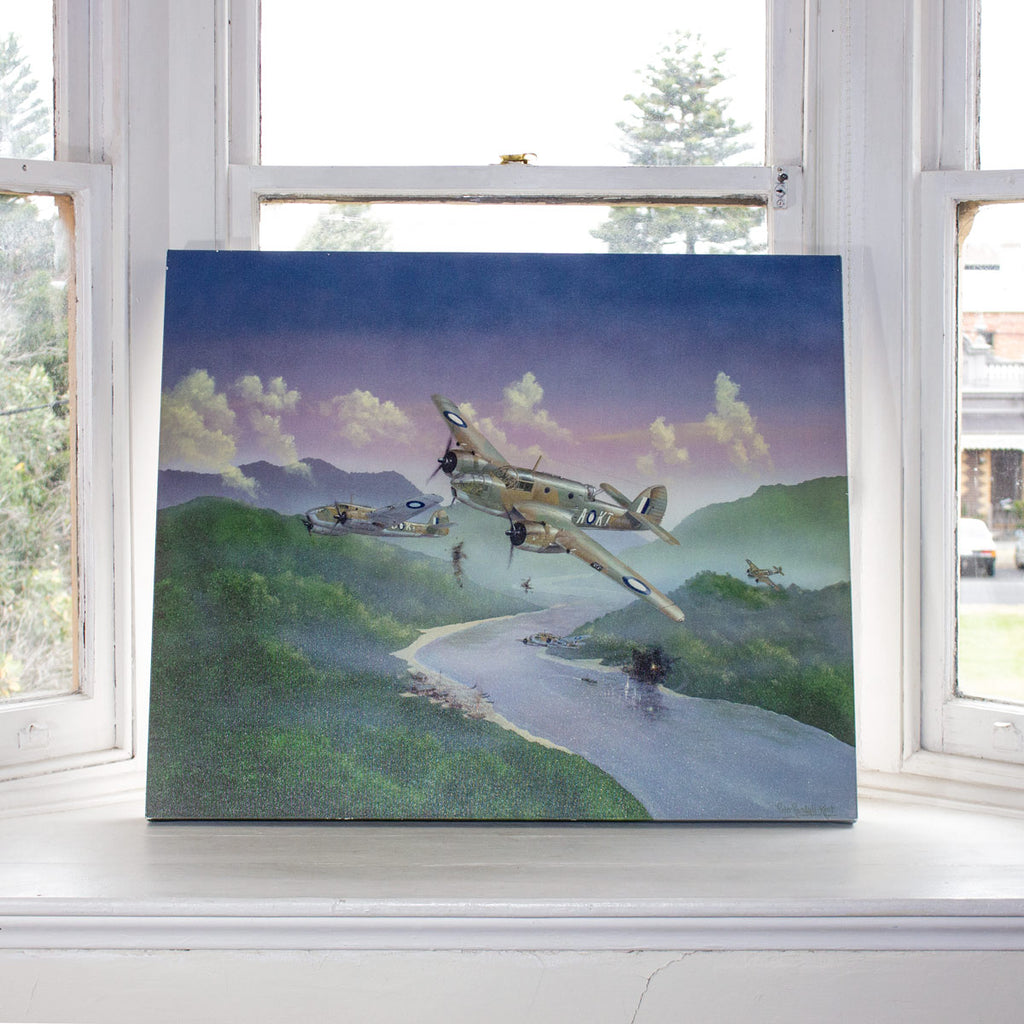 Bristol Beaufort Rage RAAF WW2 Military Aviation Art Canvas Peter Randall Kent A20 Aviation Art