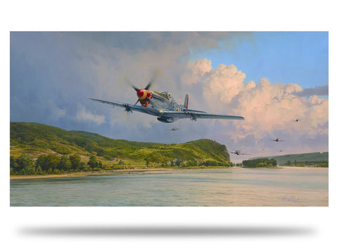 Image of Robert Taylor Air Superiority Signed Limited Edition Art Print P51 Mustang A20 Aviation Art full print