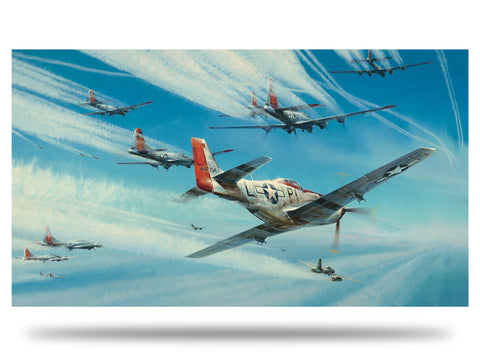 Image of P51 Mustang Robert Taylor Jet Hunters limited edition ww2 military aviation art print A20 aviation art