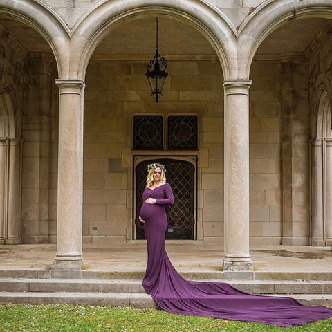 Extended train  Maternity gown - ANYUTA  COUTURE