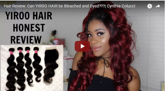 Can YIROO HAIR be Bleached and Dyed?  Brazilian Body Wave 16 18 20 22+14 Closure