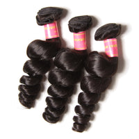 YIROO Brazilian Loose Wave Virgin Hair Weft 4pcs/pack Brazilian Human Hair Bundles