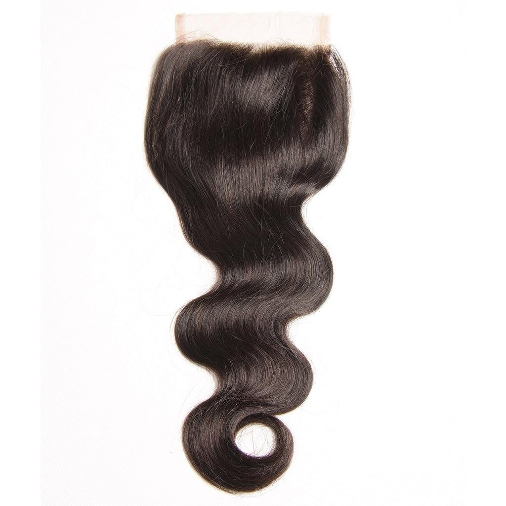 YIROO Brazilian Body Wave Hair Bundles 4 Bundles with 1 Lace Closure Free Part 100% Unprocessed Virgin Human Hair
