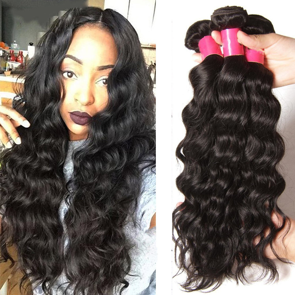 YIROO Natural Wave 1 Bundle ,Virgin Hair Weave 7A 100% Unprocessed Brazilian/Malaysian Human Hair