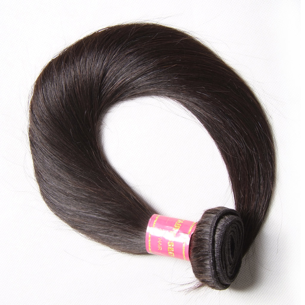 YIROO 7a Straight Virgin Hair Weave 1 Bundle,100% Human Hair Brazilian/Malaysian Extensions