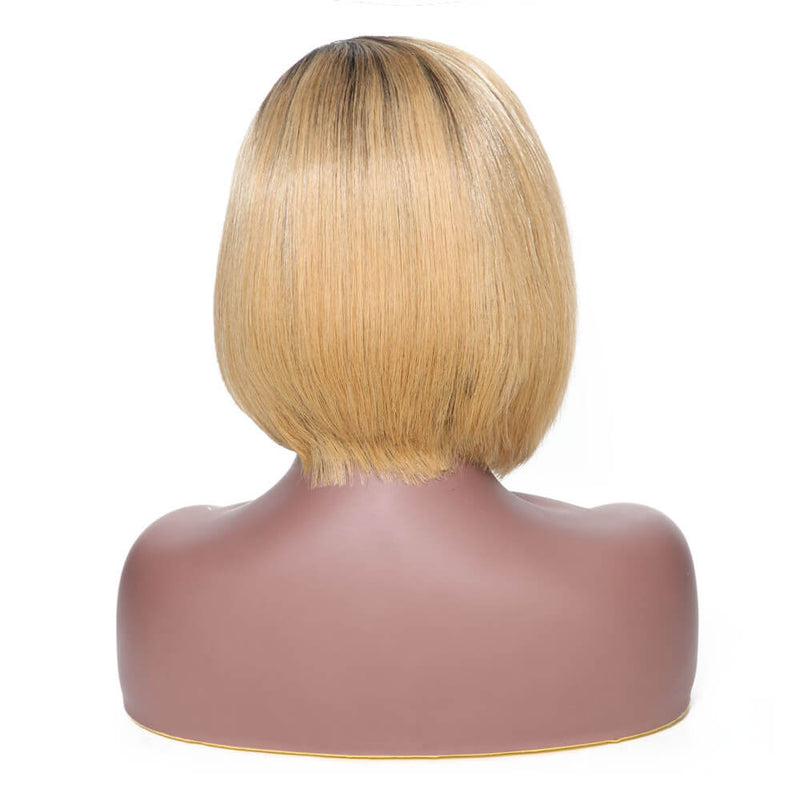 Ombre Color T1B/27 Straight Hair Bob Wig on Sales, 130% Density Lace Front Wig, 13*4 Lace Closure-Yiroo Hair