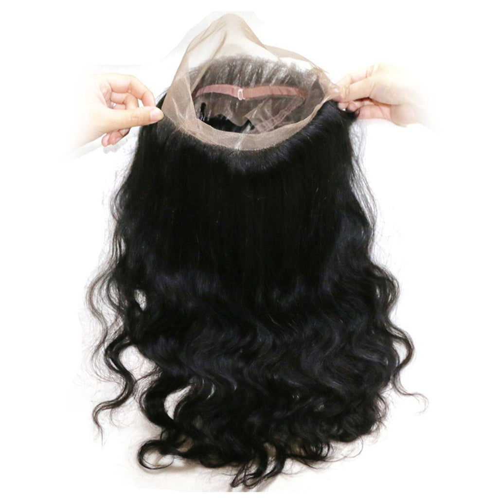 YIROO 7a Grade Peruvian Body Wave 3 Bundles With 360 Lace Frontal Virgin Human Hair Bundles Free Shipping