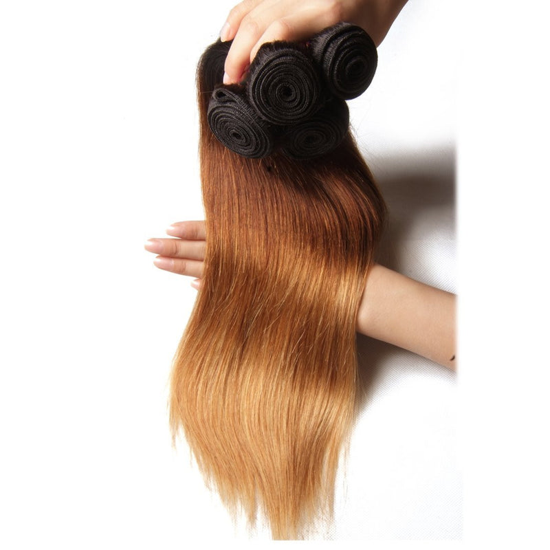YIROO Brazilian Ombre Straight Human Hair Weave 3 Bundle Deals Good Quality