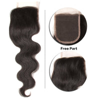 YIROO 7A Grade Body Wave 1PC 4*4 Lace Closure Malaysian/ Brazilian Virgin Human Hair Closure