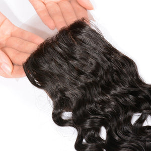 YIROO 7a Natural Wave 1PCS 4x4 Lace Closure Malaysian/ Brazilian/Peruvian Virgin Human Hair Free Part