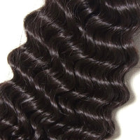 YIROO 7A Deep Wave 1 Bundle Virgin Human Hair,100% Unprocessed Human Hair Extensions Deep Wave