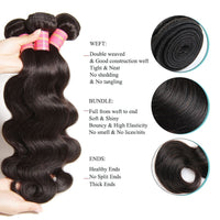 YIROO 7A Brazilian Body Wave 3 Bundles Virgin Human Hair With 13X4 Frontal Lace Closure Free Part