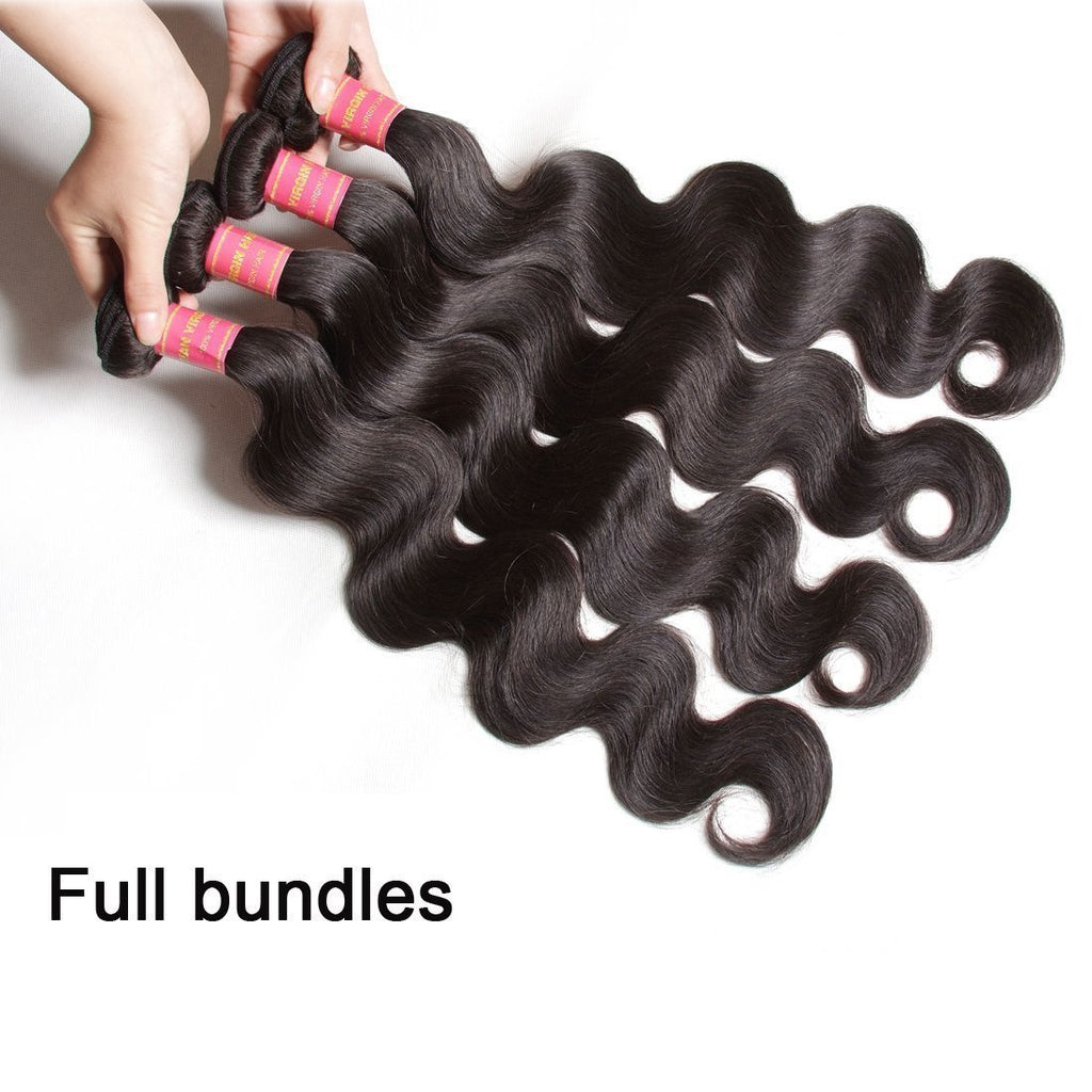 YIROO 7A Malaysian Body Wave Hair 4 Bundles With 1 Free Part Closure ,100% Unprocessed Virgin Human Hair