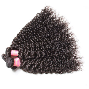 Yiroo Malaysian Virgin Curly Hair Weave 3 Bundles, 7a 100% Human Hair Bundles