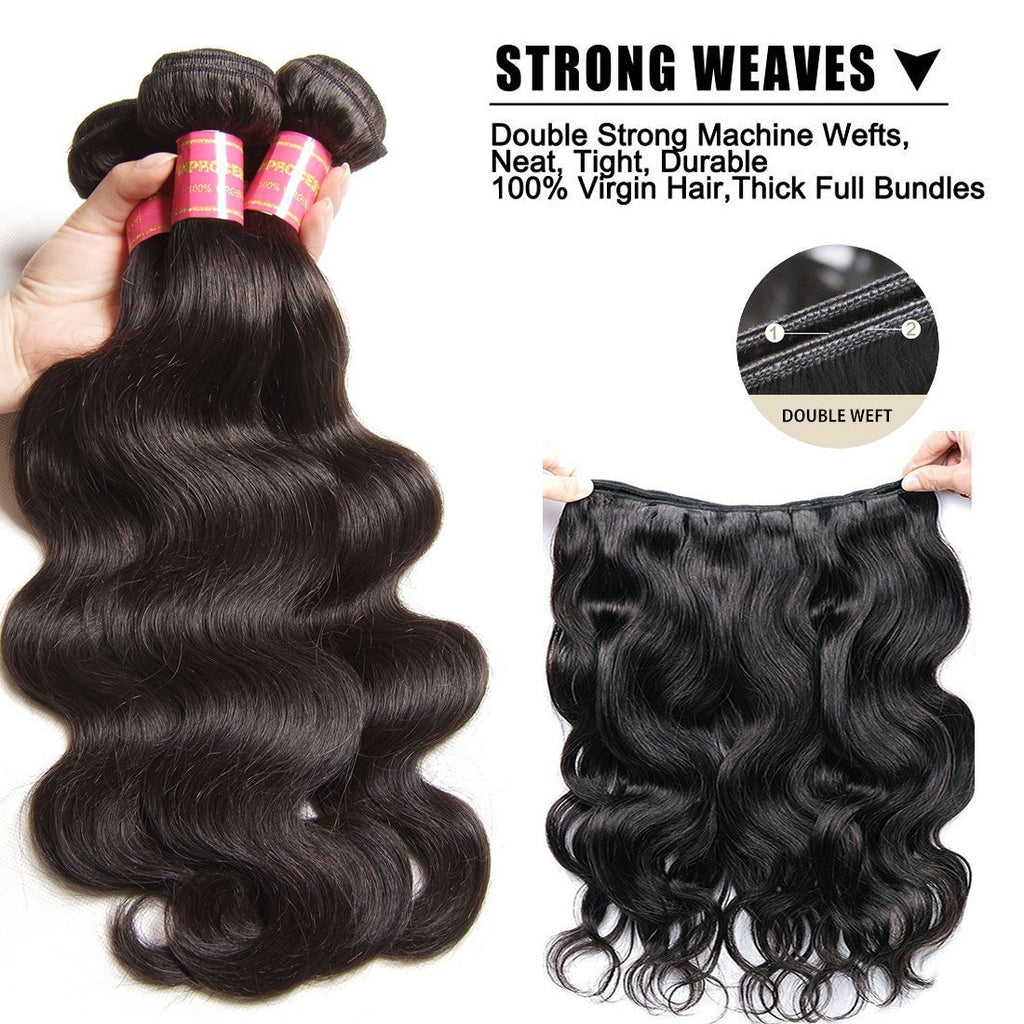 YIROO 7A Peruvian Body Wave 3 Bundles Deal Remy Hair Natural Color 100g/pc Free Shipping