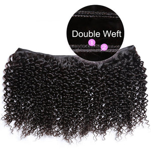 YIROO 7a Peruvian Virgin Curly Hair 4 Bundles ,100% Unprocessed Human Hair Curly Weave Deals