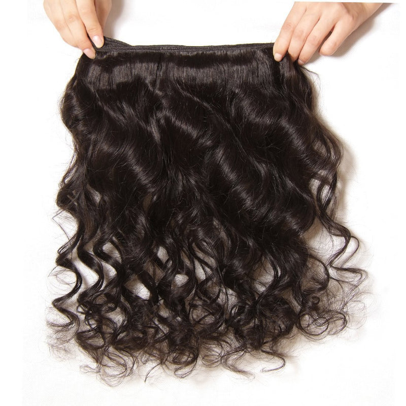 YIROO Malaysian Loose Wave 3 Bundles with Free Part Lace Closure,7A Unprocessed Human Virgin Hair