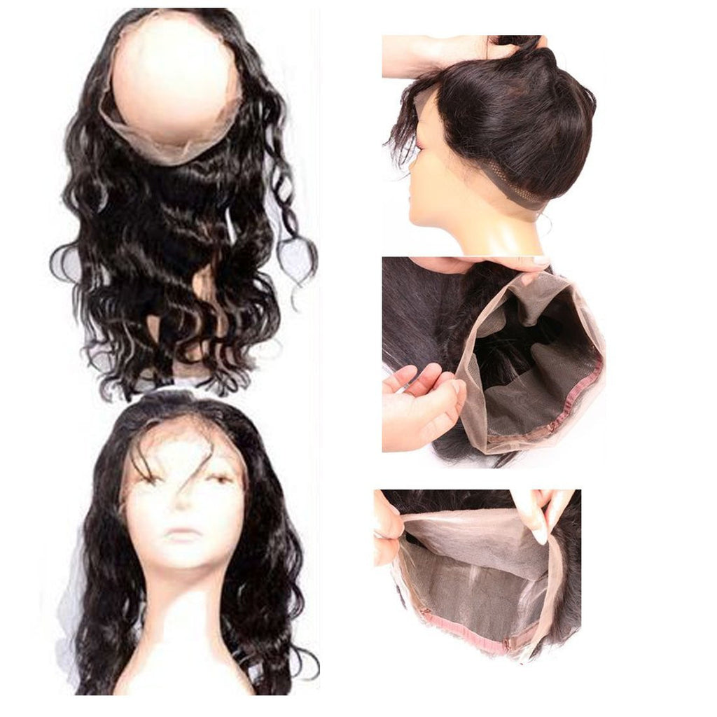 YIROO Body Wave 1pcs 360 Lace Frontal Natural Hairline Malaysian/Brazilian Virgin Human Hair