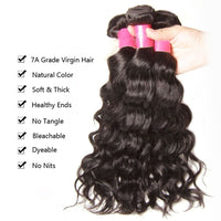 YIROO Malaysian Natural Wave 3 Bundles ,Virgin Hair Weave 7A 100% Unprocessed Human Hair
