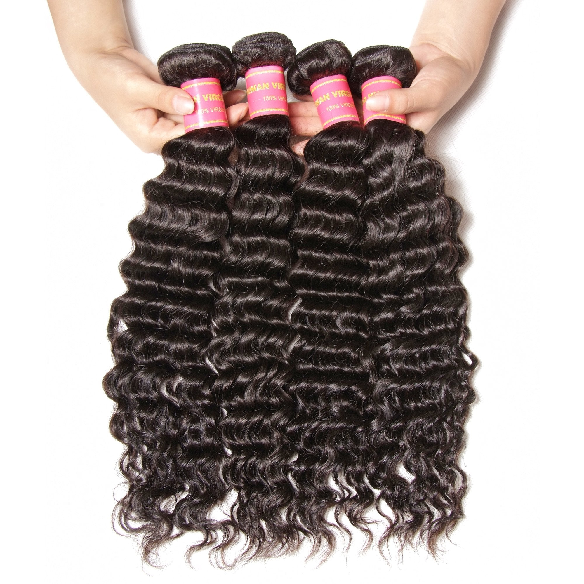 Yiroo 7a Peruvian Deep Wave Hair 4 Bundles100 Virgin Human Hair Weav