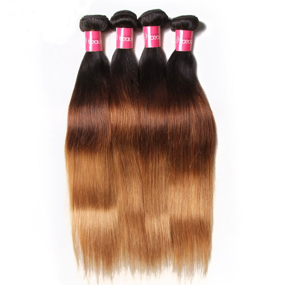 YIROO Malaysian Ombre Straight Human Hair Weave 3 Bundle Deals Good Quality