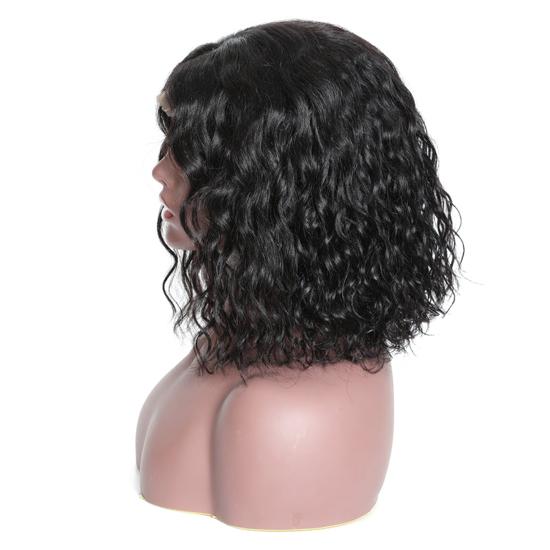 "YIROO Hair Bob Wig 13*4 Lace Frontal Water Wave Hair Wig 8""-14"" 100% Virgin Human Hair Wigs 130%&150%180% Destiny Water Wave Hair Wigs Available"