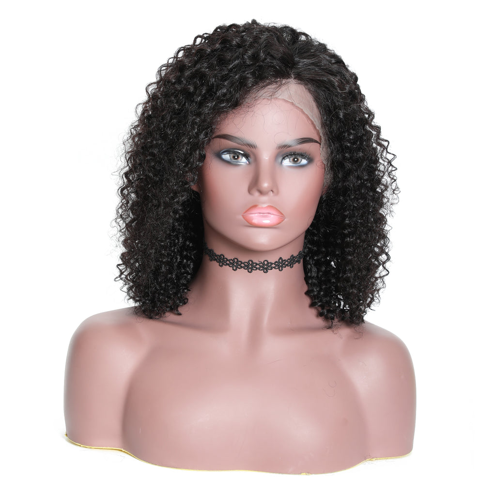 "YIROO Jerry Curly Hair Wig 13*4 Lace Front Bob Wig 8""-14"" 100% Virgin Human Hair Wigs 130%&150%180% Destiny Curly Hair Bob Wigs Available"