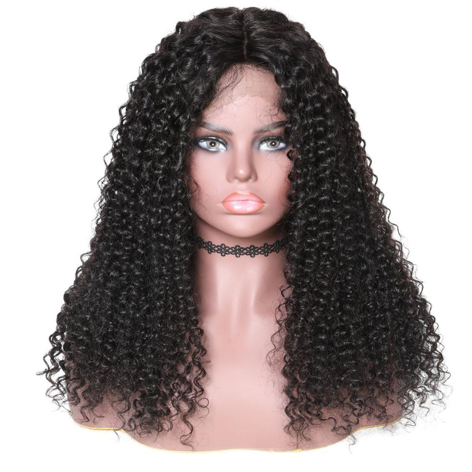 13*6 Lace Front Wig Jerry Curly 150% Density , 100% Virgin Human Hair 10-24 Inch