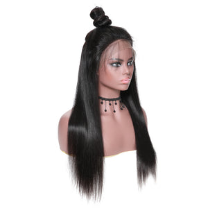 Yiroo Straight Hair Lace Front Wig 130%&150% Density 8A Silky Straight Hair Wig 100% Virgin Human Hair Wigs 12-28 Inches