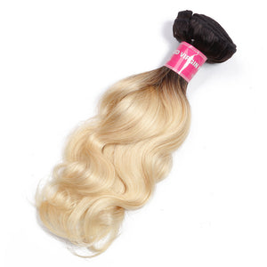 T1B/613 Body Wave Ombre Hair Weave 1 Bundles Virgin Human Hair Extensions-Yiroo Hair