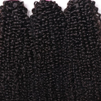 YIROO Kinky Curly Human Hair 4 Bundles 7A Brazilian Curly Hair Virgin Human Hair Extensions Best Curly Hair Products