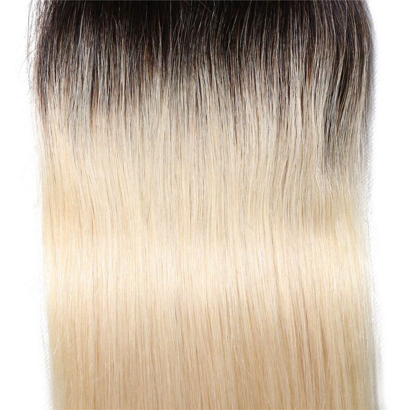 Ombre Color T1B/613 Lace Closure 4*4 Straight Lace Closure Virgin Human Hair Closure-Yiroo Hair