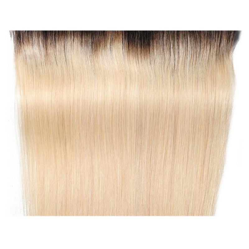 Ombre Color T1B/613 Straight Hair Lace Frontal 13*4 Straight Hair Closure Virgin Human Hair-Yiroo Hair