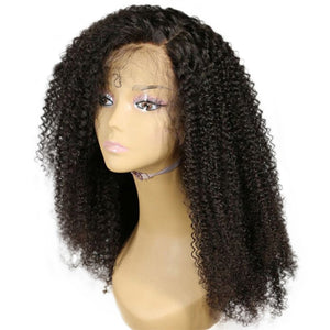 YIROO Kinky Curly Hair Lace Front Human Hair Wigs 8A Grade Remy Hair Wig 150% Destiny 10-24 inches