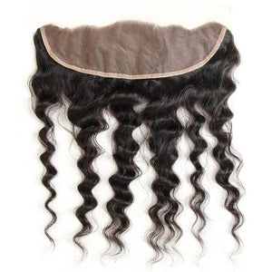 YIROO Malaysian Natural Wave 3 Bundles with 13x4 Lace Frontal Closure,100% Virgin Human Hair