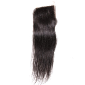 YIROO Straight Hair 1PCS 4*4 Lace Closure Malaysian/ Brazilian Virgin Human Hair