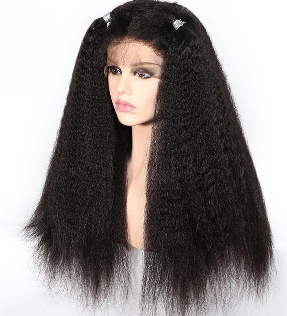 YIROO Yaki Straight Lace Frontal Wig With Baby Hair 8A Remy Brazilian Human Hair Wigs 130%&150% Destiny