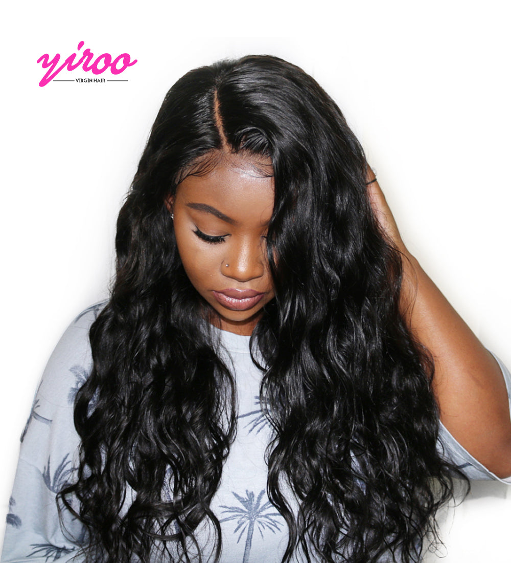 YIROO Body Wave Human Hair Lace Front Wigs With Baby Hair 10''-28'' Virgin Hair Wigs Body Wave 8A Remy Hair 130%&150% Destiny