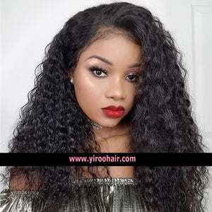 YIROO 7a Malaysian Curly Hair 3 Bundles With 4*4 Lace Closure,100% Virgin Human Hair