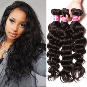 YIROO 7a Malaysian Natural Wave 3 Bundles ,High Quality Human Hair Weave