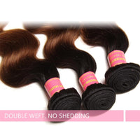 Body Wave Hair Ombre Color T1b/4/27 Hair Weave 4 Bundles Deals Virgin Human Hair Extensions Yiroo Hair