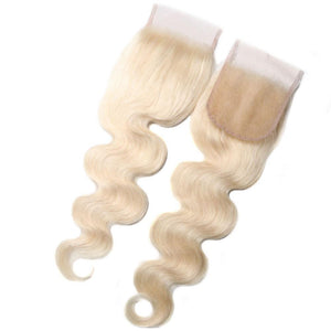 Yiroo Hair 613 Blonde Body Wave Hair 4*4 Lace Closure Free Part , 100% Human Hair On Deals