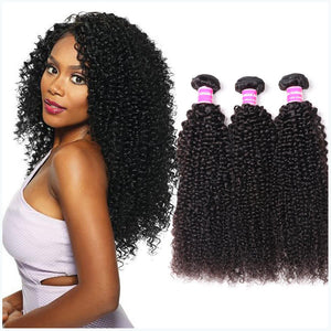 YIROO 7A Brazilian Hair Kinky Curly Human Hair 3 Bundles Virgin Hair Extensions Best Curly Hair Products
