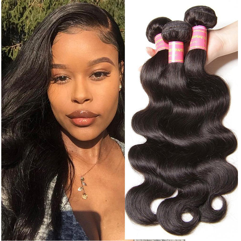 YIROO 7A Grade Malaysian Body Wave Virgin Hair Weave 3 Bundles 100% Human Hair Extensions