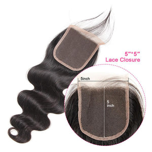 5*5 Lace Closure Body Wave Hair Closure Virgin Human Hair Body Wave Hand Hooked-Yiroo Hair
